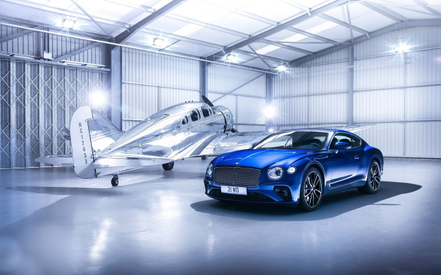 1920x1200 pix. Wallpaper bentley, aircraft, hangar, cars, aviation, bentley continental gt v8s, bentley continental gt, bentley continental