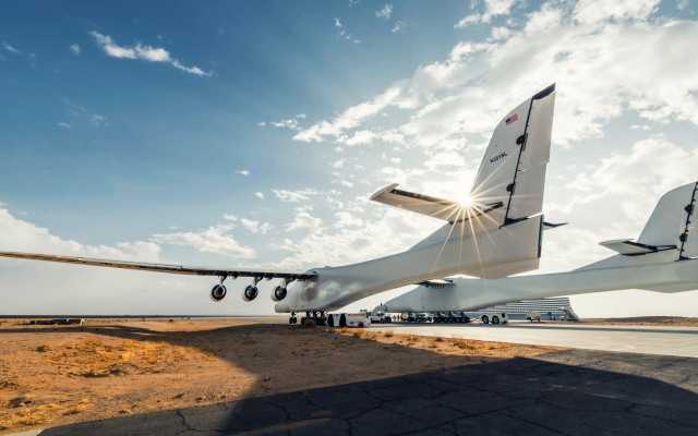 6750x4000 pix. Wallpaper airplane, aviation, aicraft, clouds, stratolaunch systems