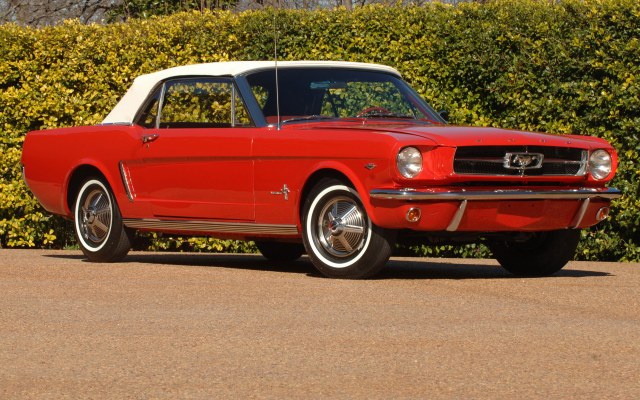 1920x1200 pix. Wallpaper 1964 mustang convertible, cars, red car, mustang, mustang convertible
