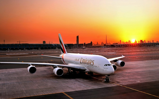 1927x1080 pix. Wallpaper emirates, emirates airline, a380, airbus, airbus a380, dubai, uae, sunrise, aircrafts, aviation