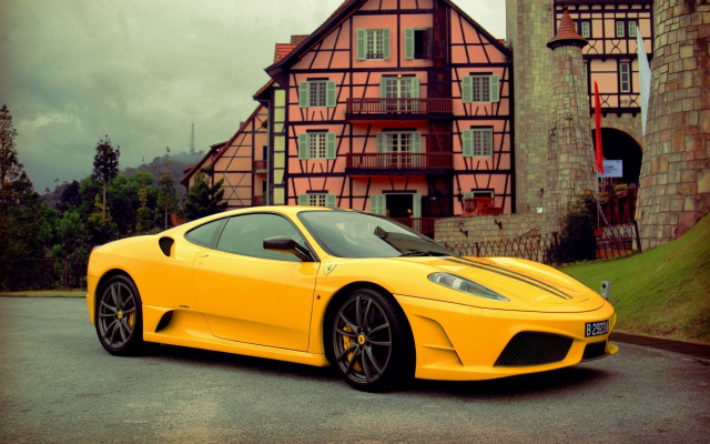 1920x1200 pix. Wallpaper ferrari, cars, yellow car, ferrari f430 scuderia, ferrari f430
