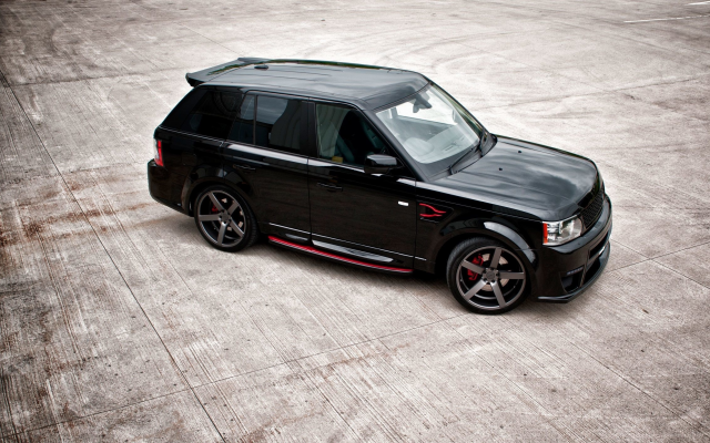 2300x1422 pix. Wallpaper land rover, range rover, sport, tuning, black car, cars