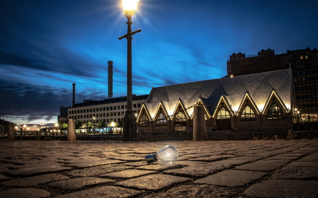 2048x1467 pix. Wallpaper gothenburg, sweden, light bulb, city, lights, night
