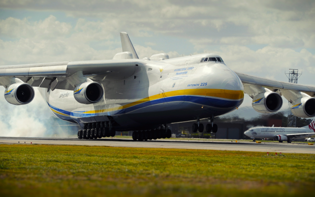 4160x2280 pix. Wallpaper an-225, aircraft, antonov, antonov an-225, mriya, aviation