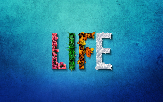 5120x2880 pix. Wallpaper life, text, word, simple