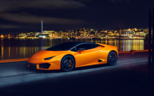 5668x3779 pix. Wallpaper lamborghini huracan lp580, lamborghini huracan, lamborghini, cars, night, city, orange car