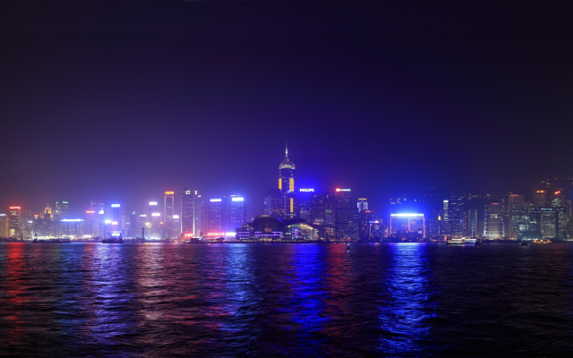 3840x2160 pix. Wallpaper a symphony of lights, hong kong, city, night, china