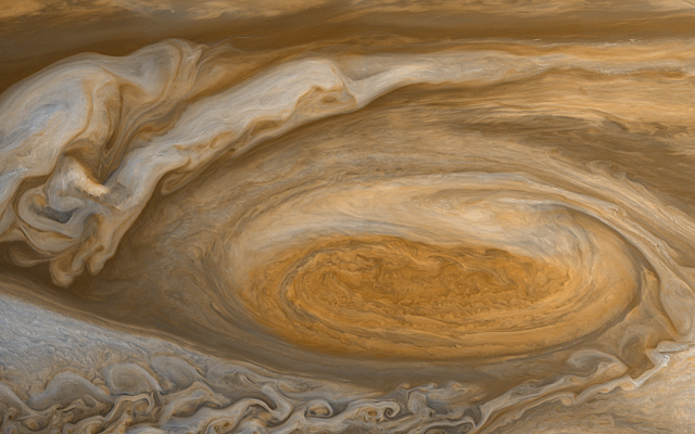 2488x1400 pix. Wallpaper Jupiter, Red Spot, planet, space