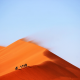 landscape, desert, nature, sand, wind wallpaper