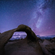 Milky Way, stars, Magical Night, Alabama Hills, California, usa, Mobius Arch wallpaper