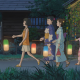 When Marnie Was There, children, kids, anime girls, night, lanterns, kimono wallpaper