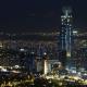 landscape, lights, Santiago de Chile, cityscape, night, skyscraper, metropolis , modern, urban, buil wallpaper