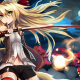 anime girls, anime, sword, kitsunemimi , katana wallpaper