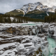 Athabasca Falls, landscape, mountains, winter, snow, rocks, jasper, alberta, canada wallpaper