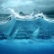 Pyramids of Giza, egypt, digital art, pyramids, water, underwater, waves, bubbles, sea wallpaper