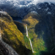 nature, landscape, mountains, Sutherland Falls, Milford Sound, New Zealand, South Island wallpaper