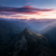 mist, landscape, morning, nature, sunrise, mountain, clouds, Switzerland, sunlight, Alps, sun rays wallpaper