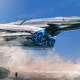 science fiction, spaceship, art, graphics wallpaper