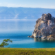 baikal, lake, russia, cliff, rock, nature, water wallpaper