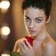 Alla Berger, rose, women, portrait, model wallpaper