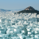Athens, hill, city, landscape, greece wallpaper