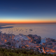 Monaco, sunset, sea, horizon, city wallpaper