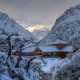 hotels, mountains, winter, Chile, Andes, snow, nature, landscape, cold wallpaper