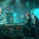 fantasy art, bar, underwater, steampunk, fictional wallpaper