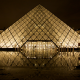 Louvre, Paris, pyramid, Fance, city, night wallpaper
