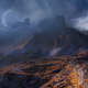 Dolomites, Italy, nature, landscape, mountains, storm, lightning wallpaper