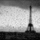 rain, water on glass, raindrops, drops, glass, eiffel tower, paris, france wallpaper