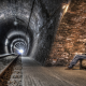 underground, urban, railway, tunnel, lights, men, bench, walls, architecture wallpaper