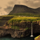 faroe islands, waterfall, hill, nature, landscape wallpaper