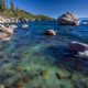 sea, shore, water, rock, nature wallpaper
