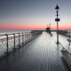 cardiff, sea, England, piers, sunset, nature wallpaper