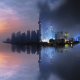 Shanghai, China, city, cityscape, skyscrapers, sunset, tower, reflection wallpaper