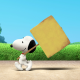 Snoopy, Peanuts, dog, cartoon, grass, sign wallpaper