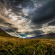 clouds, mountains, sky, grass, Iceland, sunset, nature, landscape, field wallpaper