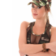 Little Caprice, camouflage, soldier, mesh clothing, Caprice wallpaper