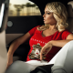 women, blonde, sitting, looking away, car wallpaper