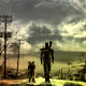 Fallout, Fallout 4, Fallout 3, dog, apocalyptic, art, moon, video games wallpaper