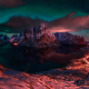 Lofoten, Norway, winter, clouds, night, island, mountains, fjord wallpaper