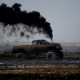 Diesel truck, truck, smoke, car, dirt, swamp wallpaper
