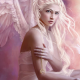 angel, fantasy, art, wings, blonde, women, dove wallpaper