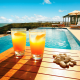 lemonade, swimming pool, beach wallpaper