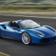 car, Ferrari 488 GTB, Convertible, motion blur, road, Ferrari 488, Ferrari wallpaper