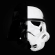 Star Wars, stormtrooper, Darth Vader, mask, splitting wallpaper
