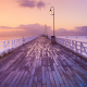pier, dock, australia, sunset, nature, ocean wallpaper