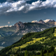 nature, dolomites, mountains, alps, forest, summer, grass, clouds, Italy wallpaper