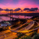 tsing ma bridge, hong kong, victoria harbour, city, bridge, freeway, highway wallpaper